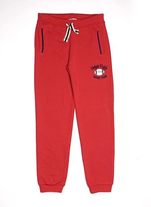 Asymmetry Sweatpant Kırmızı
